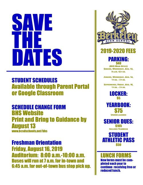 BHS Save the Dates