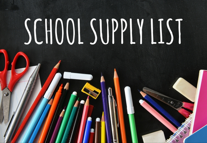 Click here to access grade-level supply lists.