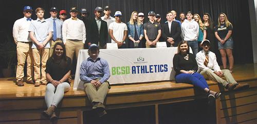 Group photo of BCSD student-athletes