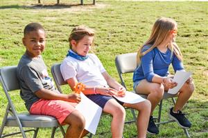 the three third graders who spoke during event