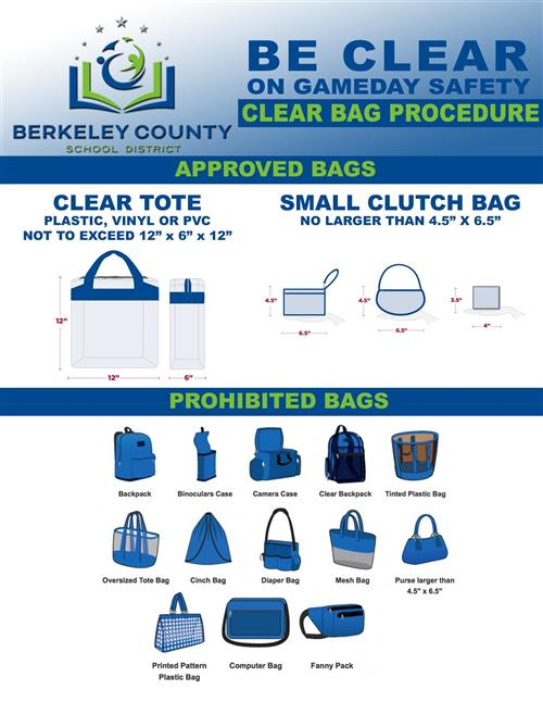 <center>BCSD to expand CLEAR BAG OR NO BAG entry procedure to all winter varsity sporting events </center>