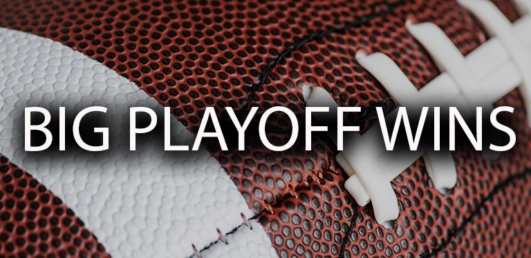 Generic football playoffs graphic