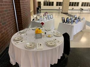 Missing Man table on display at CBH