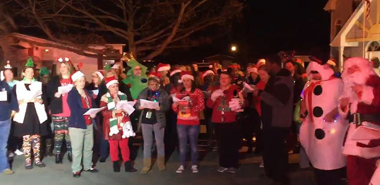 Photo from caroling in Goose Creek