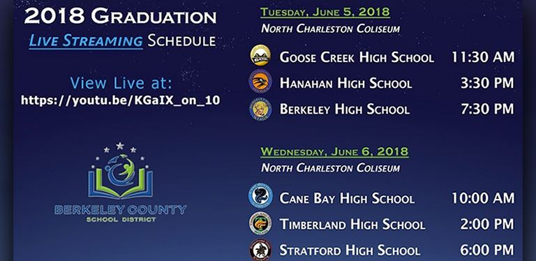 BCSD Graduation Live Stream Graphic