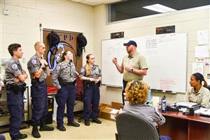 stayton and sylvester meet with cadets