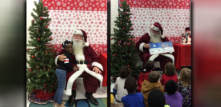 Santa Clause at Boulder Bluff Elementary