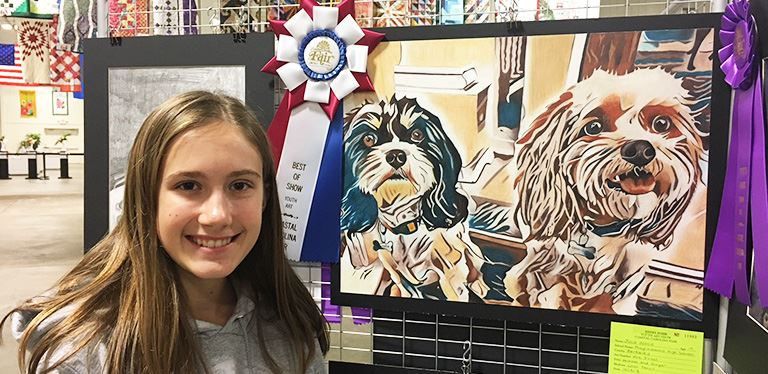 Julia Wood - Best of Show at the 2018 Coastal Carolina Fair