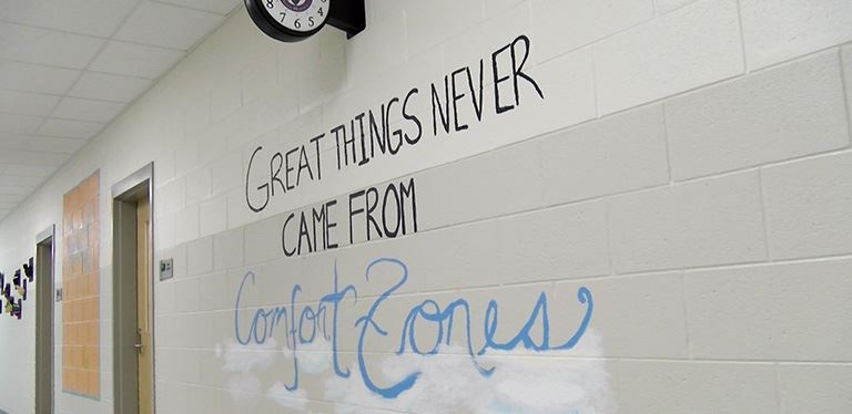 Photo of wall painting at Philip Simmons Middle