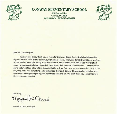 goose creek high uses homecoming to help conway elementary