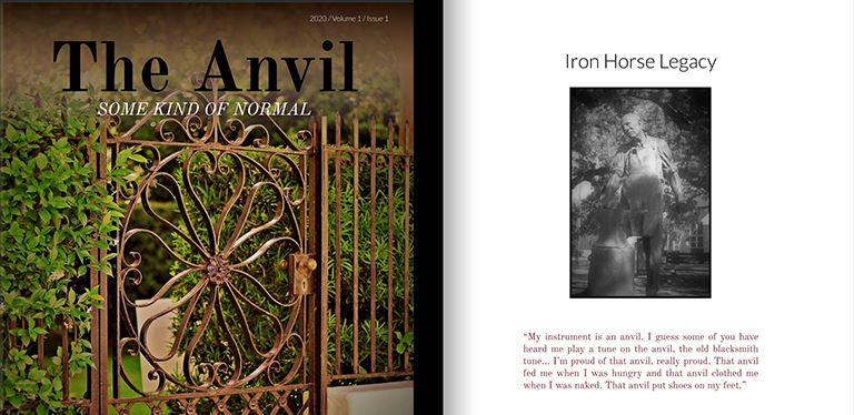 front and back page of The Anvil