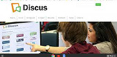 screen grab of the scdiscus start page