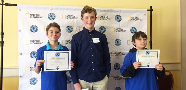 BCSD state-level National Geographic Bee winners