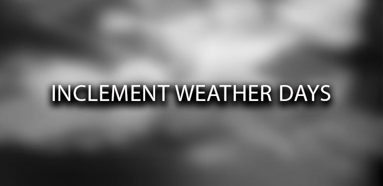 Inclement weather days are listed on the BCSD instructional calendar.