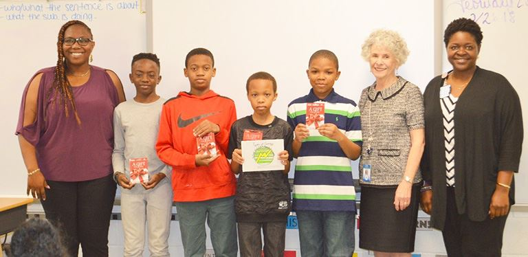J.K. Gourdin students claim 1st place in children's book challenge