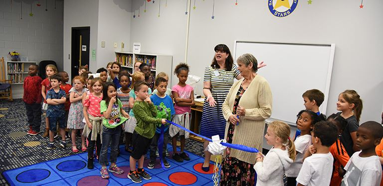 Photo from library grand opening at SRE
