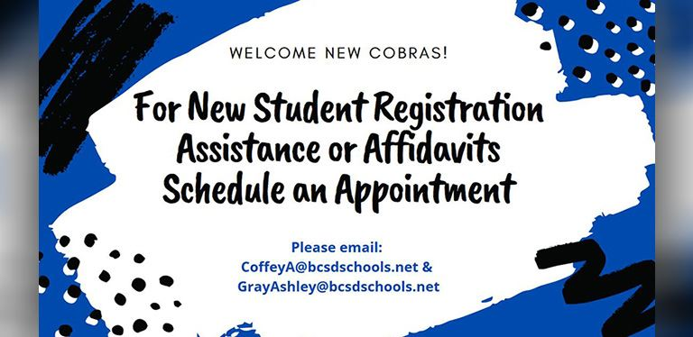 New student registration assistance
