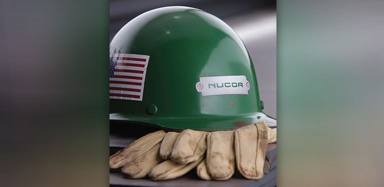 Nucor work helmet photo