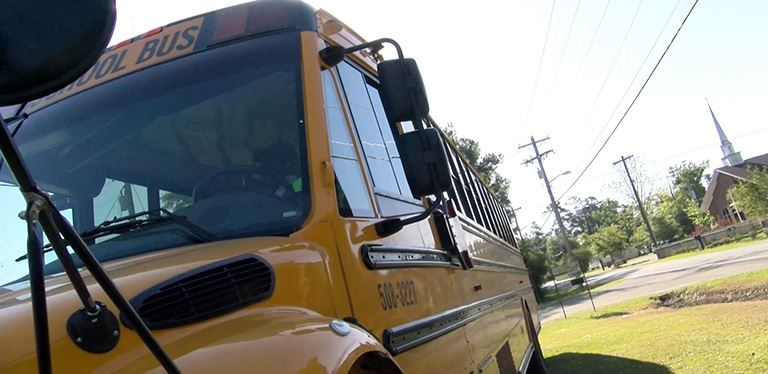 Image of BCSD school bus parked in lot