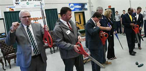 Timberland welding lab ribbon-cutting