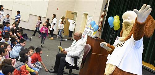 Photo from the announcement at College Park Elementary