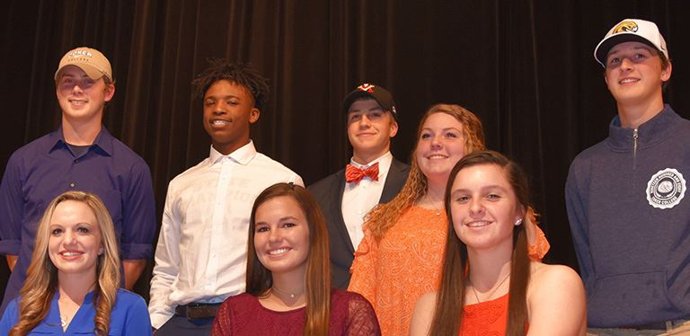 Several BCSD athletes sign to play college sports