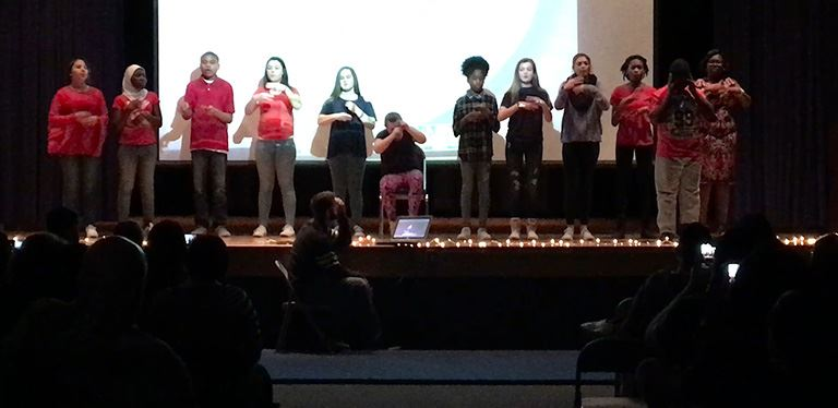 BMS unified music class delivers emotional performance