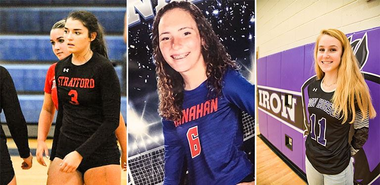 Volleyball players win all-state, all-star recognition