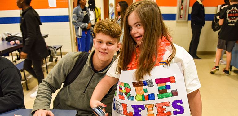 Club Joy celebrated World Kindness Day at Hanahan High on Nov. 13.