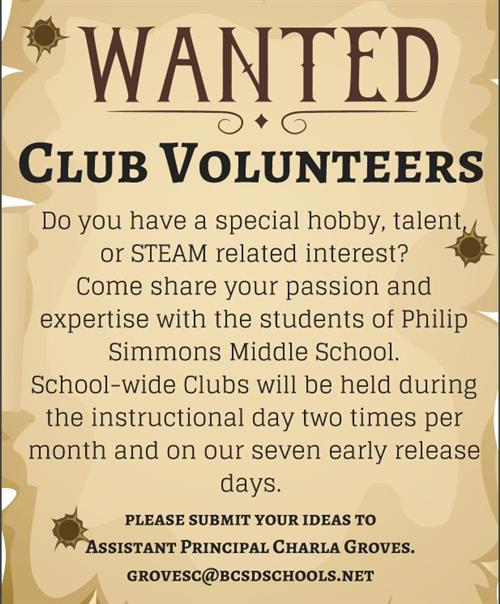 Club Volunteers