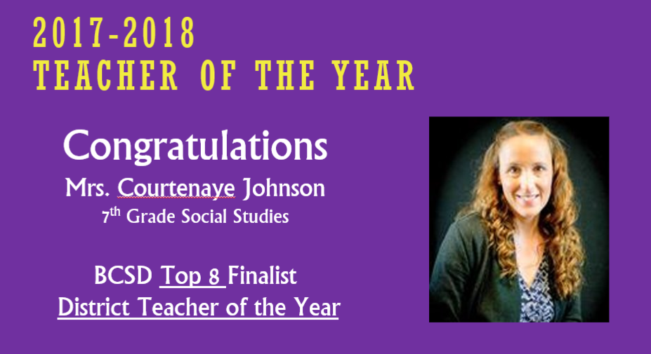 Teacher of the Year 2017-2018