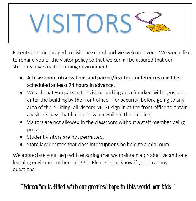 Visitor Policy / Visitor Policy