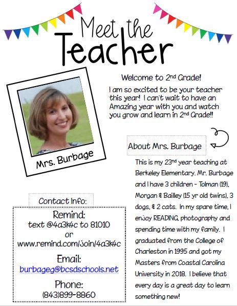 About Mrs Burbage
