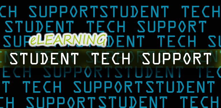 Generic student tech help graphic